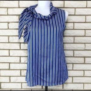 Banana Republic Blouse Sleeveless Stripe Shell
